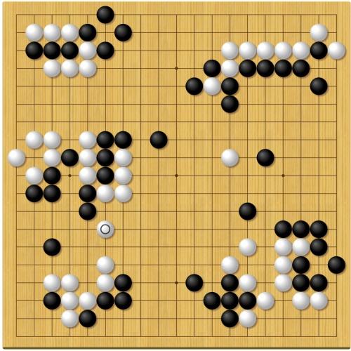 第43期囲碁名人戦第2局1日目